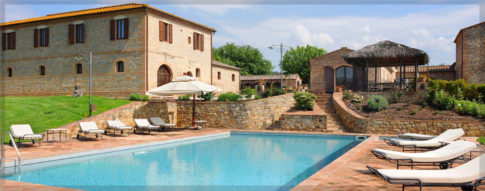 Relax poolside under the Tuscan sun.